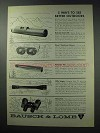 1964 Bausch & Lomb Ad - Balscope Zoom 60, Scopes +