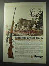 1964 Savage 99 Rifle Ad - You're Sure of Your Trophy