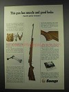 1964 Savage 110 Premier Grade Big Game Rifle Ad