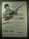 1964 Browning .22 Automatic Rifle Ad - Shooting Partner