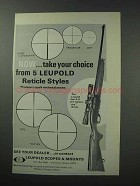 1964 Leupold Vari-X II 2x7 Scope Ad - Reticle Styles
