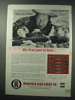 1963 Redfield Scopes Ad - His First Year To Hunt