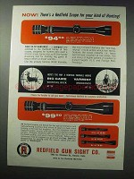 1963 Redfield Scopes Ad - For Your Kind of Hunting