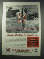 1963 Redfield Scopes Ad - Wherever Men Hunt