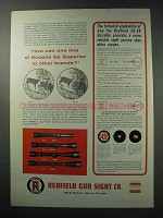 1963 Redfield Scopes Ad - Superior To Other Brands