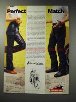 1988 Hein Gericke Chaps and Boot Cut Jeans Ad