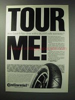 1987 Continental Conti Tour Motorcycle Tires Ad