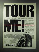 1987 Continental Conti Tour Motorcycle Tires Ad - Tour Me