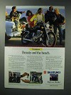 1987 Suzuki Savage 650 Motorcycle Advertisement - Beauty and Beach