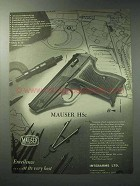 1971 Mauser HSc Pistol Ad - Excellence at Its Best