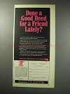 1971 National Rifle Association NRA Ad - A Good Deed