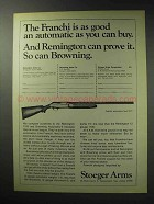 1971 Stoeger Arms Franchi Shotgun Ad - Good Automatic