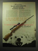 1971 Weatherby Vanguard Rifle Ad - Lives Up To