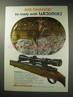 1971 Redfield Widefield Scope Ad - Big Chance!