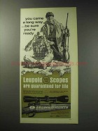 1971 Leupold Scopes Ad - You Came a Long Way