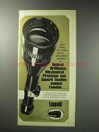 1971 Leupold Scopes Ad - Optical Brilliance