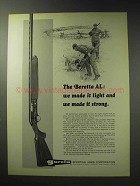 1971 Beretta AL Shotgun Ad - Made it Light and Strong