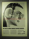 1971 Bausch & Lomb Quiet-Ear Hearing Guard Ad