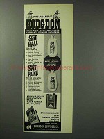 1971 Hodgdon Spit Ball & Spit Patch Lubes Ad