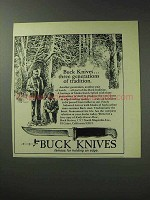 1971 Buck Knives Ad- Three Generations of Tradition