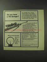 1971 Williams Gun Sight Ad - Do You Have a 110 Savage