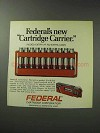 1971 Federal Rifle Cartridges Ad - Cartridge Carrier