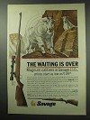 1963 Savage 110 Rifle Ad - The Waiting Is Over