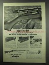 1963 Marlin 99 Rifle Ad - Best-Looking, Surest-Shooting