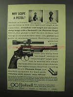 1963 Bushnell 1.3x Phantom Scope Ad - A Pistol?