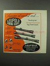 1963 Leupold Scopes Ad - Modest Cost