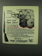 1963 High Standard Sport-King Pump-Action .22 Rifle Ad