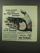 1963 High Standard Derringer Pistol Ad - Power-Packed