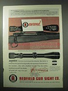 1962 Redfield 3x-9x Variable Scope Ad - Reserved