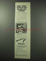 1962 Daisy BB Guns and Range Ad - Dads! Sons!