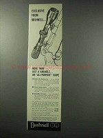 1962 Bushnell Scope Ad - Exclusive