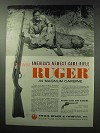 1962 Ruger .44 Magnum Carbine Ad - Game Rifle
