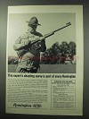 1962 Remington Firearms Ad - Expert's Shooting Savvy