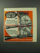 1962 Leupold Scopes Ad - Guaranteed Fog Proof!