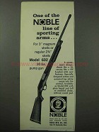 1962 Noble Model 602 Shotgun Ad - Sporting Arms