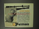 1962 Lyman Scopes Ad - Varmint Hunters