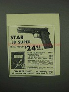 1962 Star .38 Super Pistol Ad - N.R.A. Good