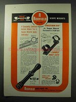 1961 Redfield Bear Cub Scopes and Jr. Scope Mount Ad