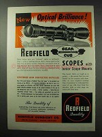 1961 Refield Bear Cub Scopes Ad - Optical Brilliance