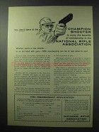 1961 National Rifle Association NRA Ad - Champion