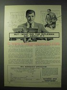 1961 National Rifle Association NRA Ad - The Rifleman