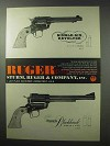 1961 Ruger Single-Six and Super Blackhawk Revolvers Ad