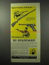1961 High Standard Sport-King Pistol and Rifle Ad