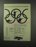 1961 Anschutz Rifles Ad - Olympic Medals Won With