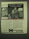 1961 Hornady Bullets Ad - Electronic Accuracy
