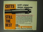 1961 Lyman Cutts Compensator Ad - World's Original